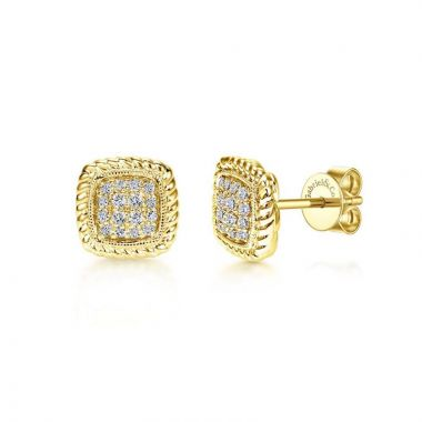 Gabriel & Co. 14k Yellow Gold Hampton Diamond Stud Earrings