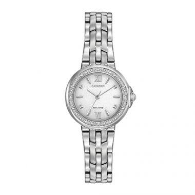 Citizen Ladies' Diamond White Stainless Steel Women's Watch