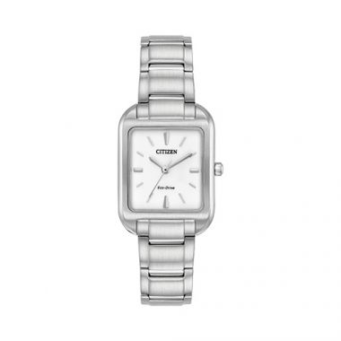 Citizen Silhouette Ladies White Stainless Steel Watch