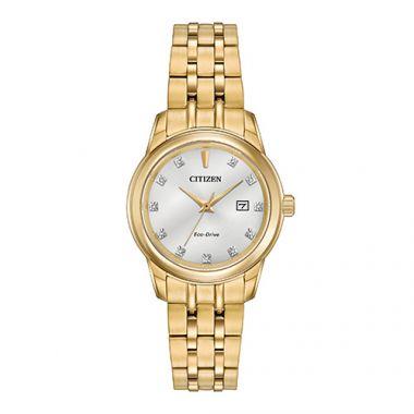Citizen Ladies' Diamond Yellow Stainless Steel Women's Watch