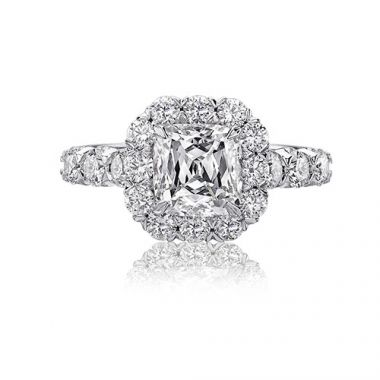 Christopher Design Crisscut Collection Diamond Halo Engagement Ring