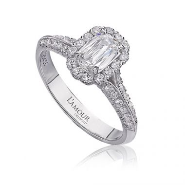 Christopher Design L'Amour Collection Diamond Halo Engagement Ring