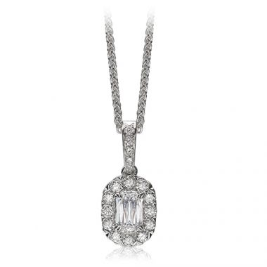 Christopher Design L'Amour Collection Diamond Halo Pendant