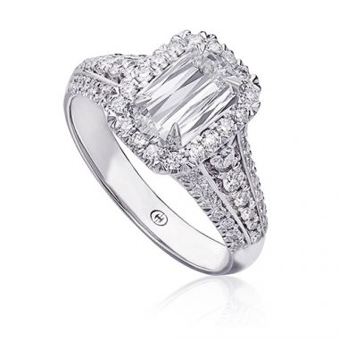 Christopher Designs 14k White Gold L'Amour Collection Diamond Halo Engagement Ring