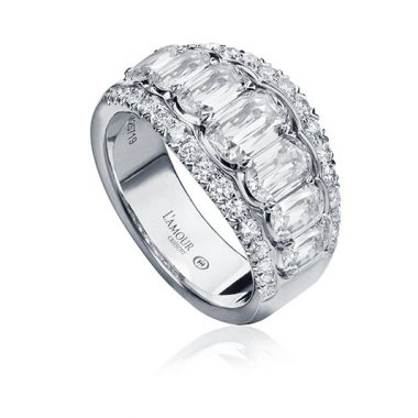 Christopher Design L'Amour Collection Three Row Diamond Anniversary Band