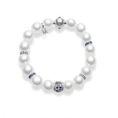 Mikimoto 18k White Gold Essentials Pearl Bracelet