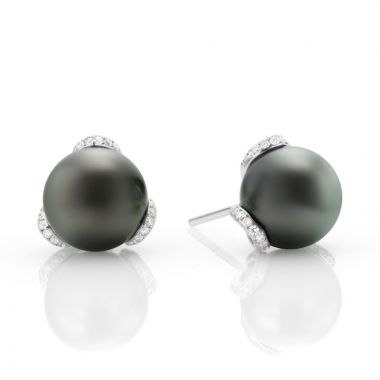 Mikimoto 18k White Gold Embrace Pearl Earrings