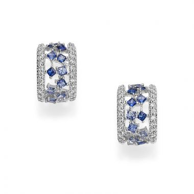 Mikimoto 18k White Gold Gemstone Earrings