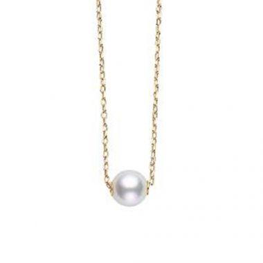 MIKIMOTO 18k Yellow Gold Pearl Pendant