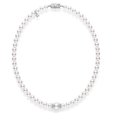 MIKIMOTO Fusion Akoya and White South Sea Pearl Necklace