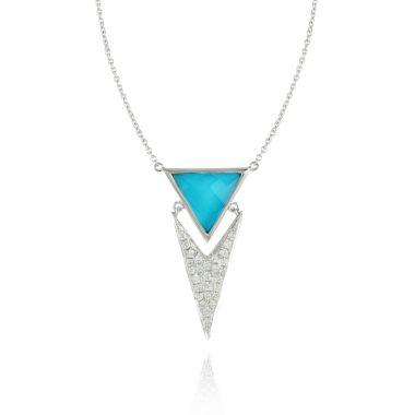 Doves 18k White Gold St. Barths Blue Topaz Necklace