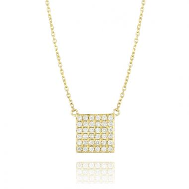 Doves 18k Yellow Gold Diamond Fashion Necklace