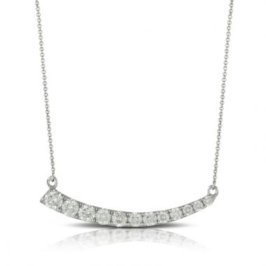 Doves 18k White Gold Diamond Fashion Necklace