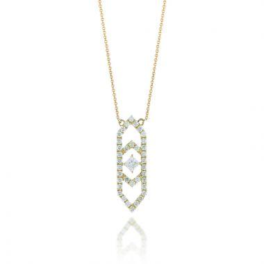 Doves 18k Yellow Gold Diamond Fashion Necklace