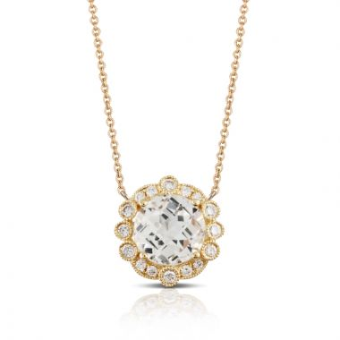 Doves 18k Yellow Gold Lucente Topaz Necklace
