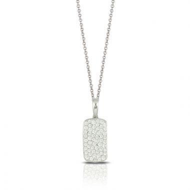 Doves 18k White Gold Diamond Fashion Pendant