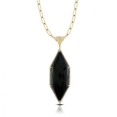 Doves 18k Yellow Gold Gatsby Onyx Pendant