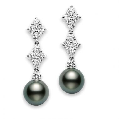 Mikimoto 18k White Gold Classic Pearl Earrings