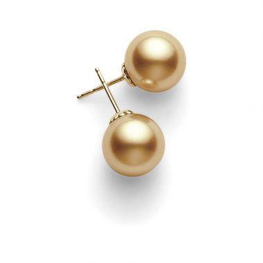 Mikimoto 18k Yellow Gold Basic SS Stud Pearl Earrings
