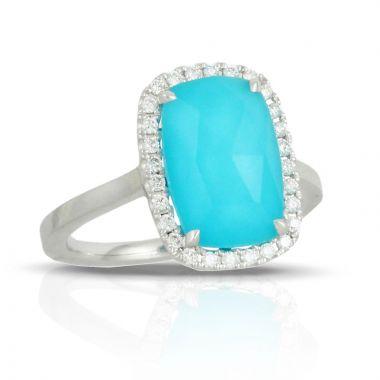 Doves 18k White Gold St. Barths Blue Quartz Ring