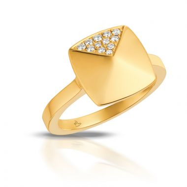 Doves 18k Yellow Gold Diamond Fashion Ring
