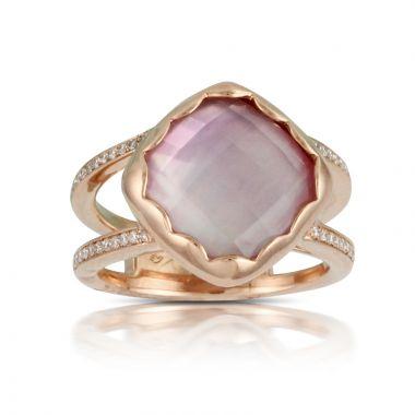 Doves 18k Rose Gold Viola Mother of Pearl Ring