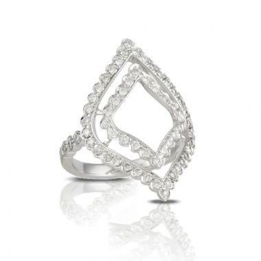 Doves 18k White Gold Diamond Fashion Ring