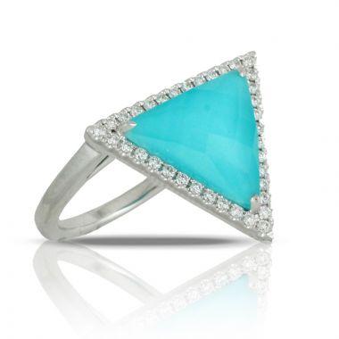 Doves 18k White Gold St. Barths Blue Turquoise Ring
