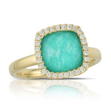 Doves 18k Yellow Gold Amazon Breeze Quartz Ring