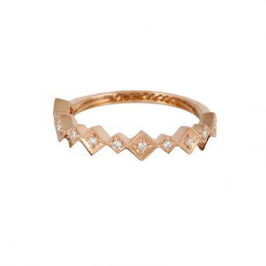 Doves 18k Rose Gold Diamond Fashion Diamond Ring