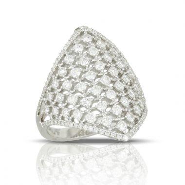 Doves 18k White Gold Diamond Fashion Diamond Ring