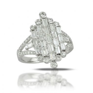 Doves 18k White Gold Diamond Fashion Diamond Ring
