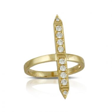 Doves 18k Yellow Gold Diamond Fashion Diamond Ring