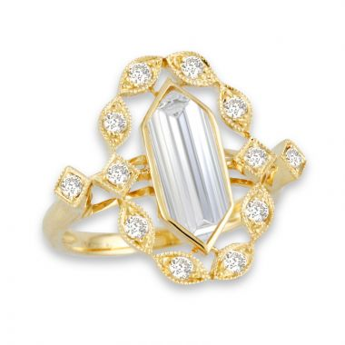Doves 18k Yellow Gold Lucente Topaz Ring