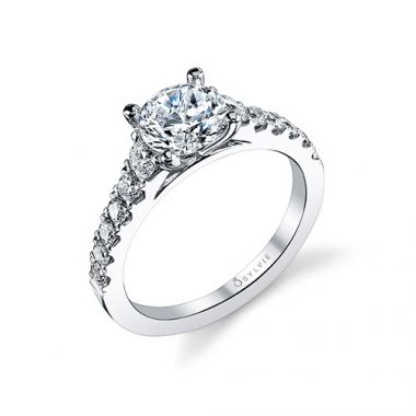 0.60tw Semi-Mount Engagement Ring With 1.25ct Round Head