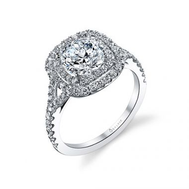 0.74tw Semi-Mount Engagement Ring With 1.5ct Round Head