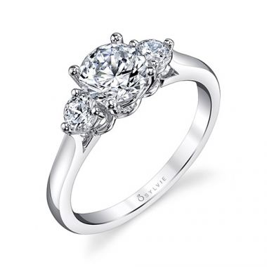 0.31tw Semi-Mount Engagement Ring With 1ct Round