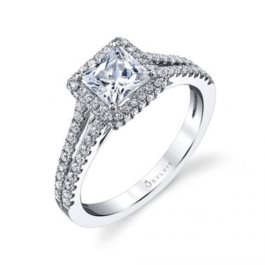 0.45tw Semi-Mount Engagement Ring With 1ct  Pri Head