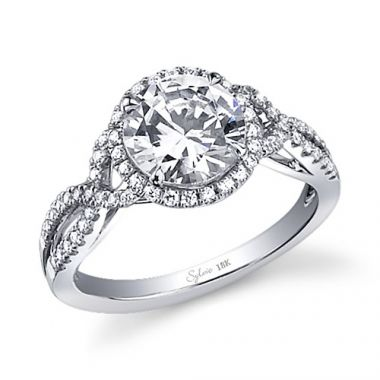 0.36tw Semi-Mount Engagement Ring With 1ct Round Head