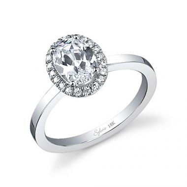 0.17tw Semi-Mount Engagement Ring With 1.25ct Oval Head
