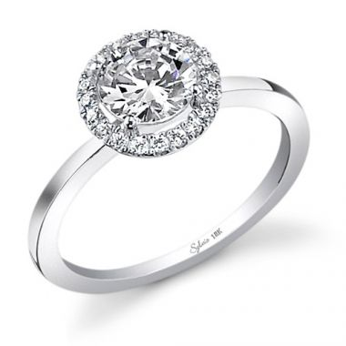 0.14tw Semi-Mount Engagement Ring With 3/4tw Round Head