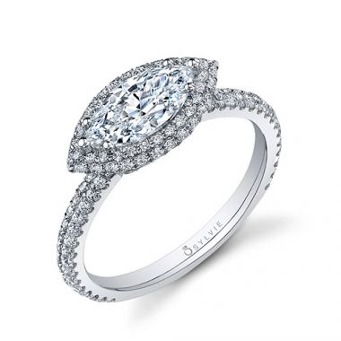 0.56tw Semi-Mount Engagement Ring With 10X5 Marquise Head