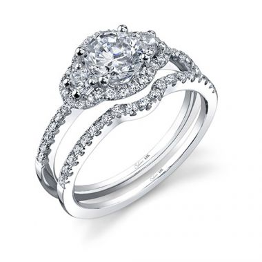 0.42tw Semi-Mount Engagement Ring With 3/4ct Round Head