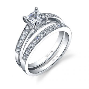 0.32tw Semi-Mount Engagement Ring With 3/4ct Princess Head