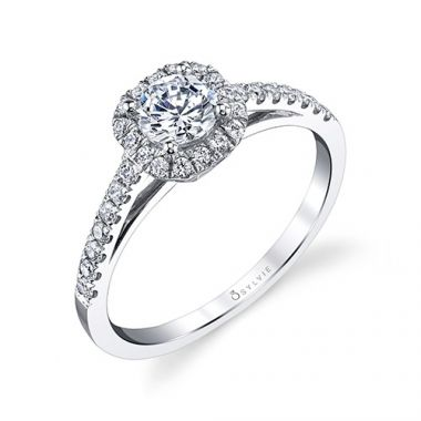 0.34tw Semi-Mount Engagement Ring With 1ct Round Head