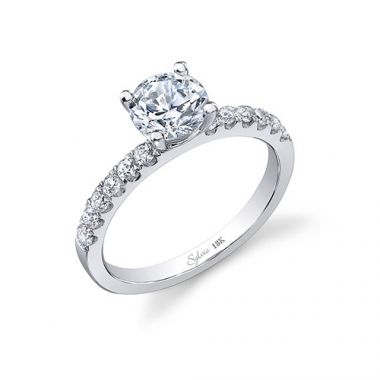 0.28tw Semi-Mount Engagement Ring With 1ct Rb Head