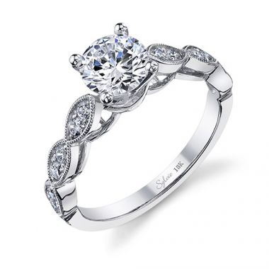 0.36tw Semi-Mount Engagement Ring With 1ct Rb Head