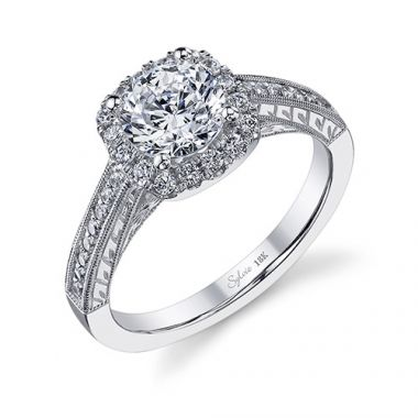 0.30tw Semi-Mount Engagement Ring With 1ct Round Head