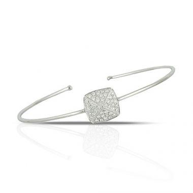 Doves 18K White Gold Diamond Bangle Bracelet