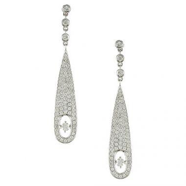 Doves 18K White Gold Diamond Earrings